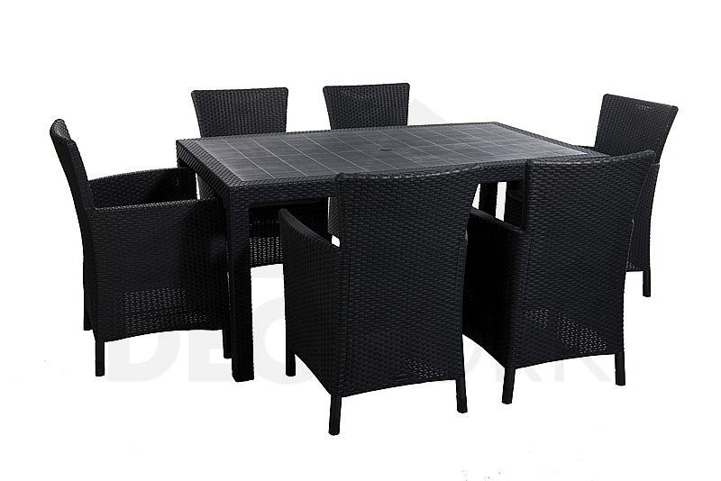 Gartenmöbel-Set aus Polyrattan HAVANA 1+6 (Anthrazit) | I ...