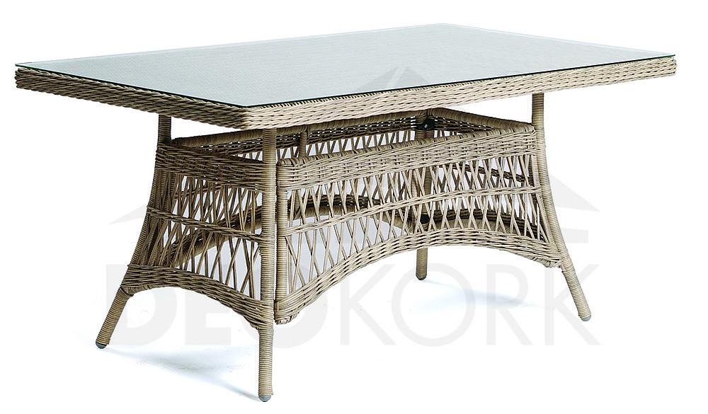 Gartentisch Aus Polyrattan Oxford 160x90 Cm I Gartenmoebel De