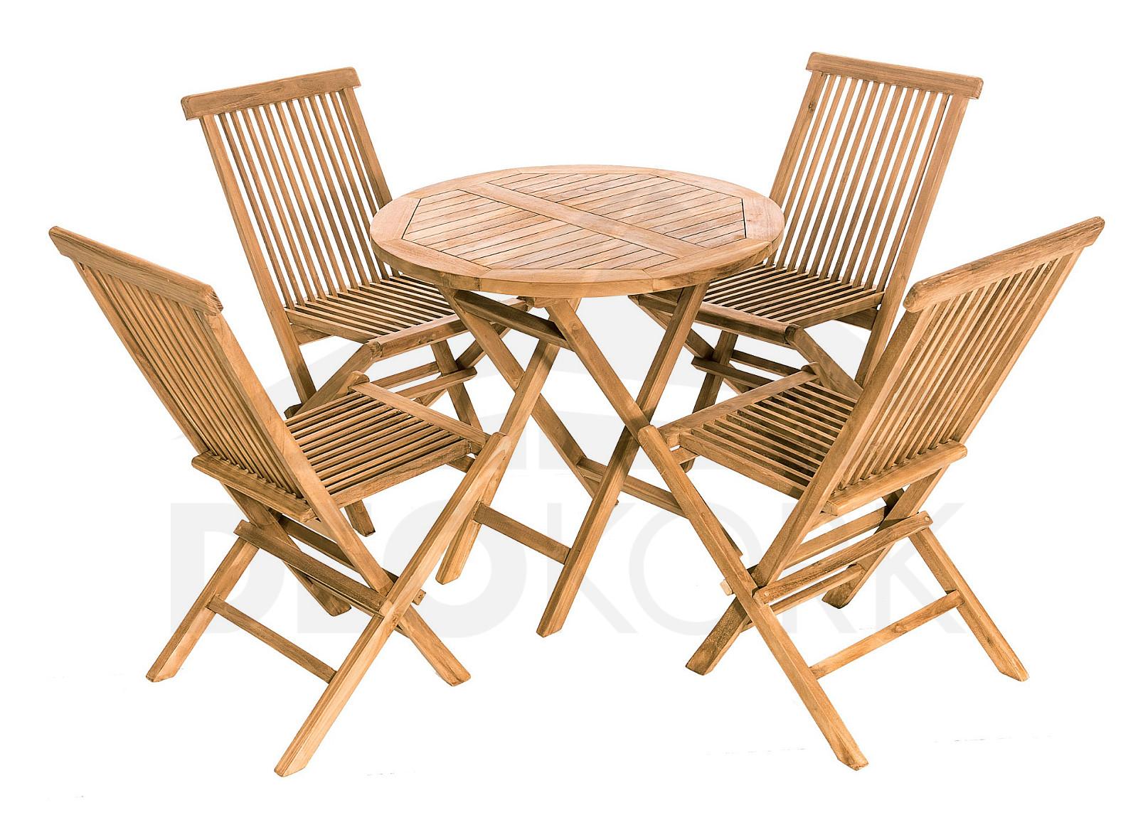 Gartenmöbel Set Aus Teakholz Foxi Balcony I 14 Auflagen Kostenlos