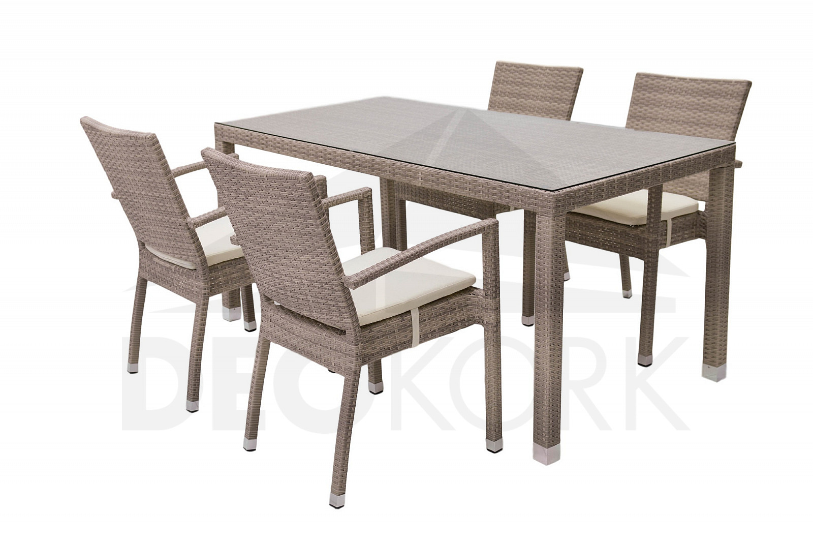 gartenm belset aus polyrattan napoli ii 1 4 grau beige i. Black Bedroom Furniture Sets. Home Design Ideas