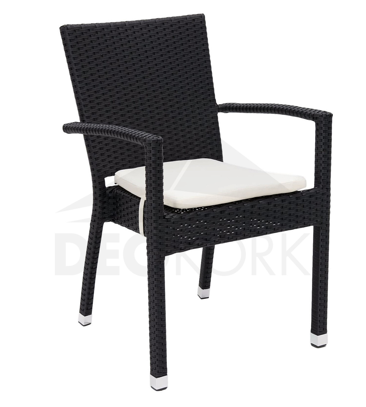 gartenm belset aus polyrattan napoli ii 1 6 schwarz i. Black Bedroom Furniture Sets. Home Design Ideas