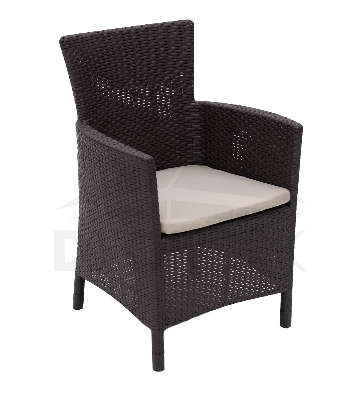 gartensessel aus polyrattan havana braun i. Black Bedroom Furniture Sets. Home Design Ideas