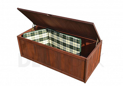 Zubeh r aus merantiholz i for Auflagenbox meranti